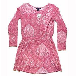 Ralph Lauren Pink & White Paisley Dress XL 16
